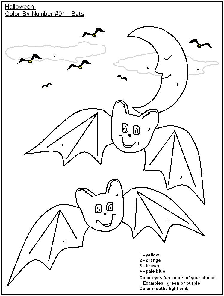 Easy Bat Color By Number
