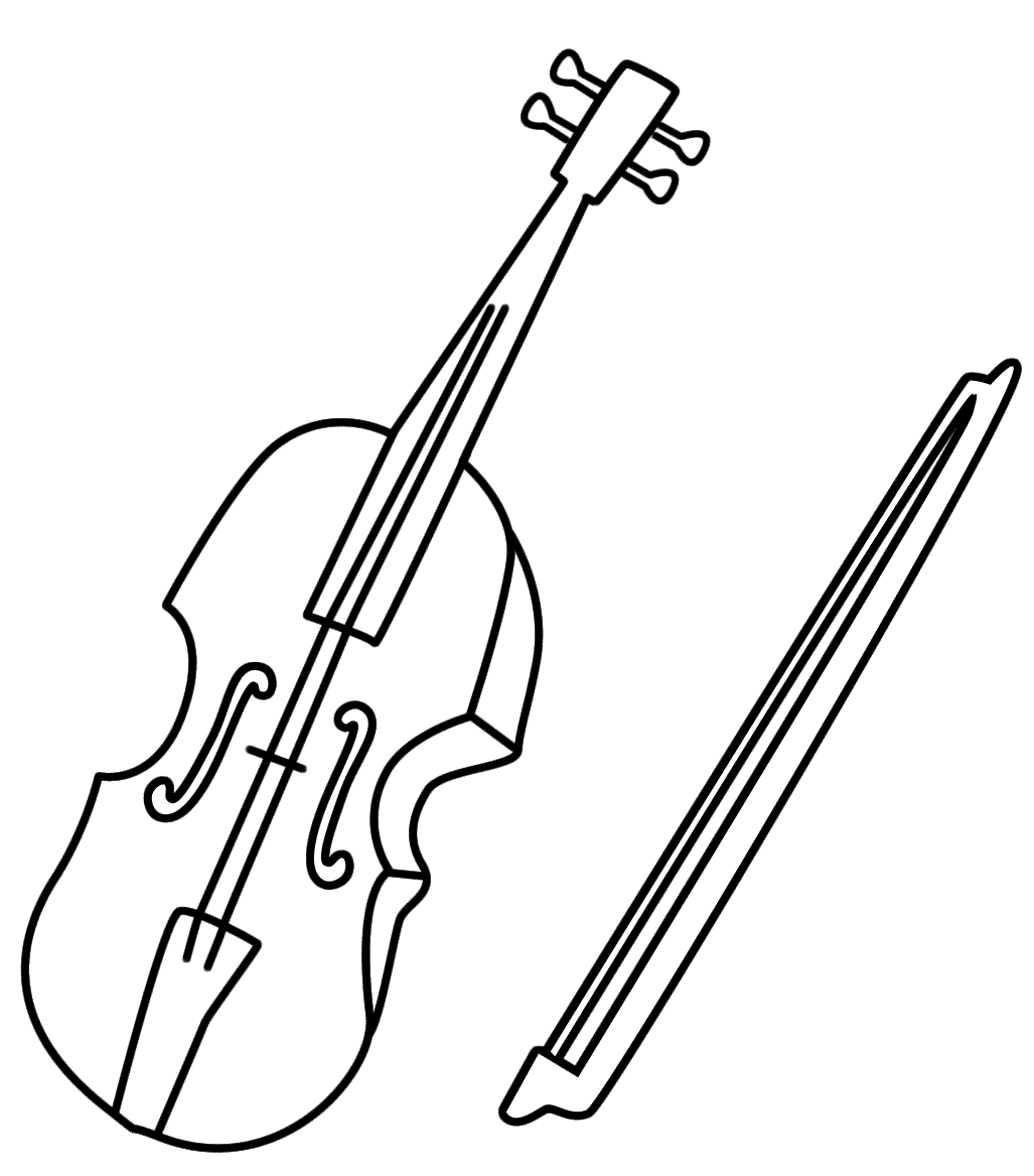 Easy Violin Coloring Pages
