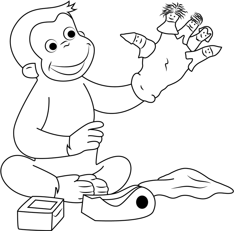 Georges Hand Puppet Coloring Pages