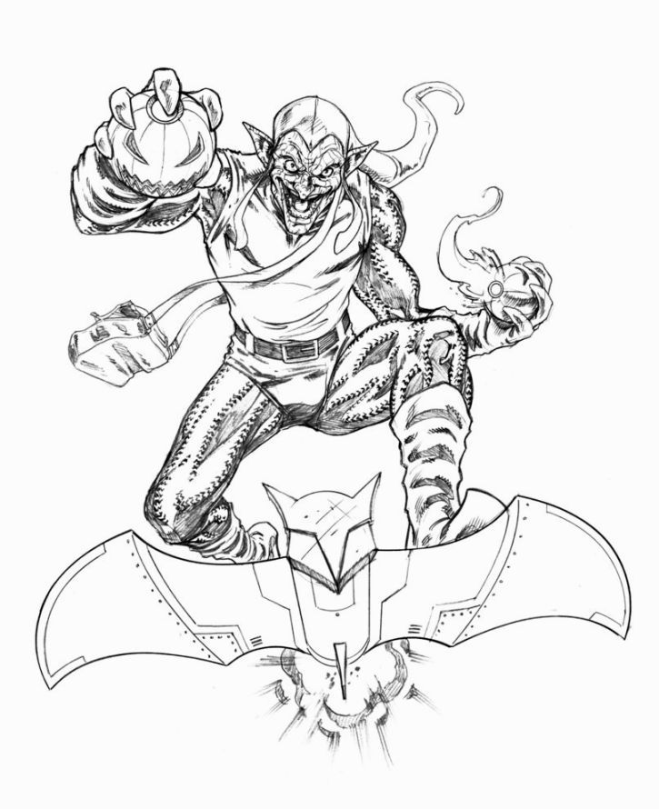 Green Goblin Art Coloring Page