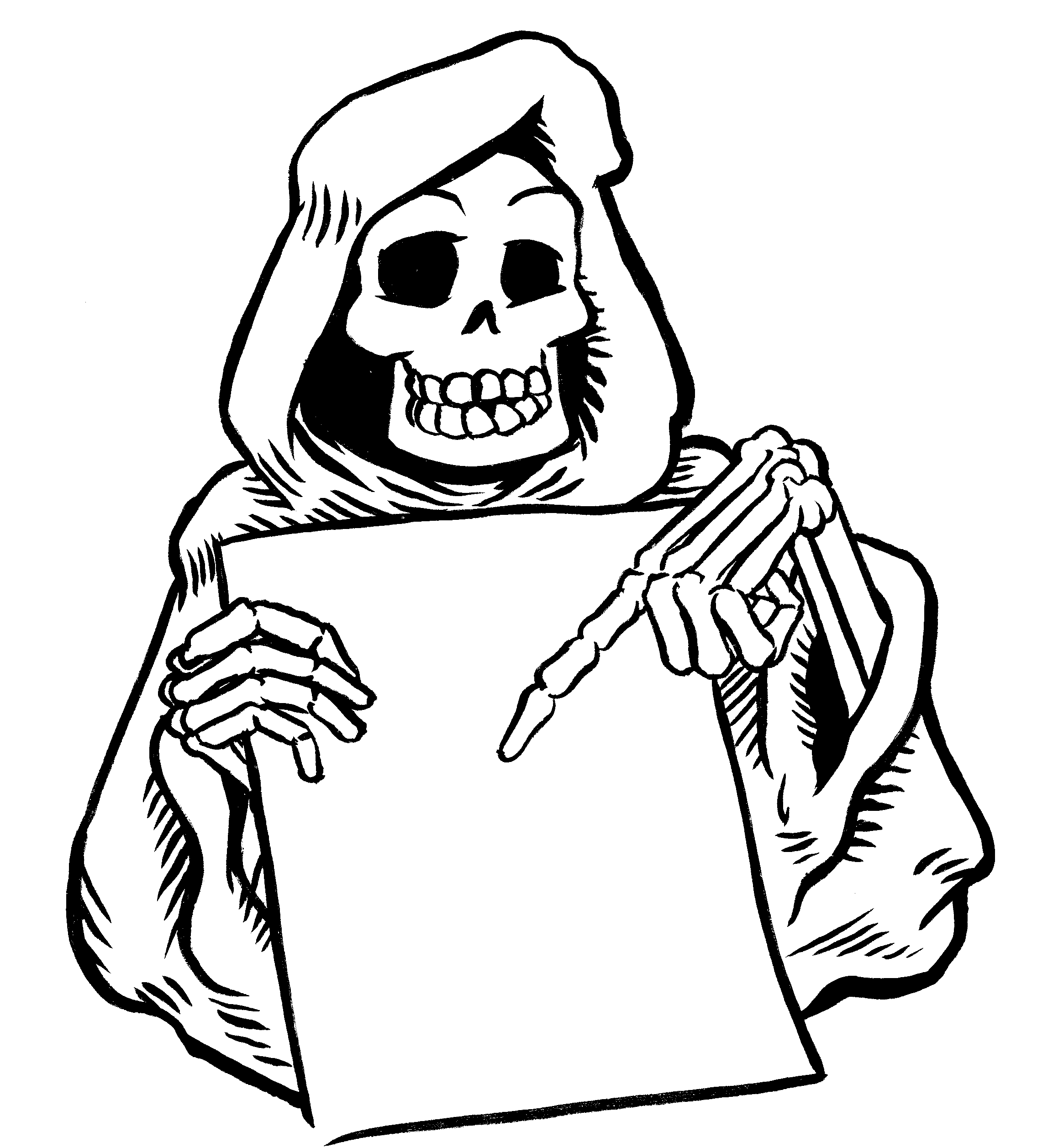 Grim Reaper Coloring Page