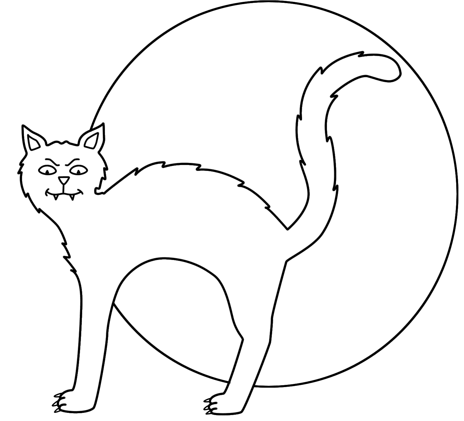 Halloween Cat Coloring Pages