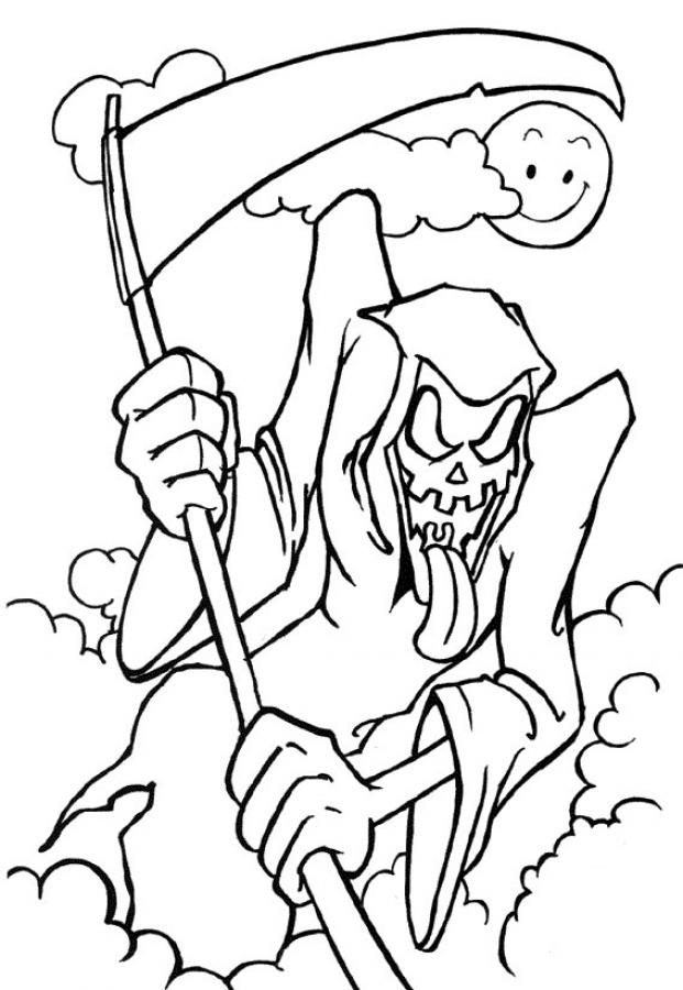 Halloween Grim Reaper Coloring Pages