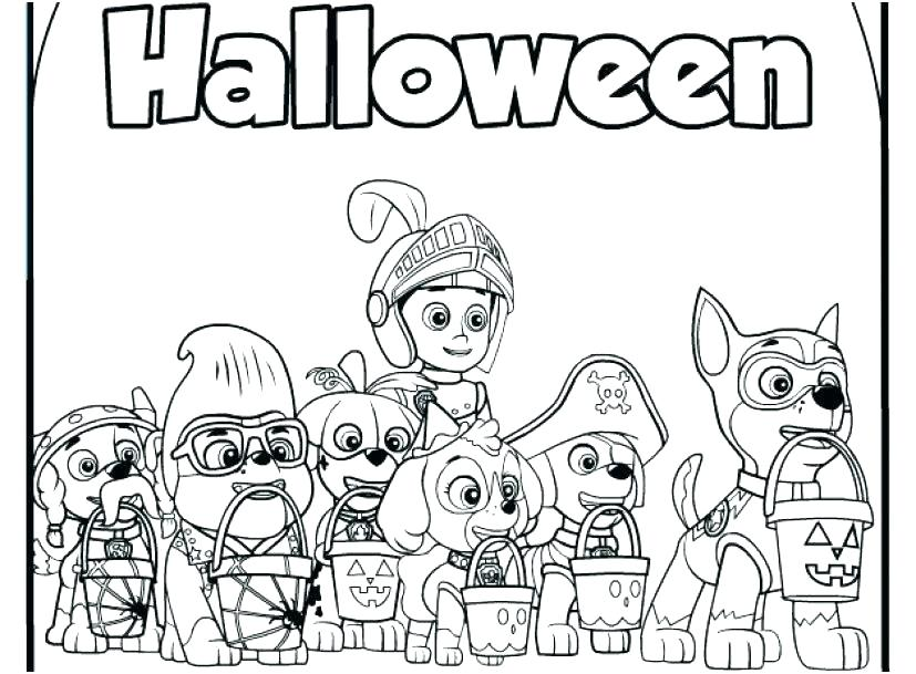 Halloween Paw Patrol Coloring Pages
