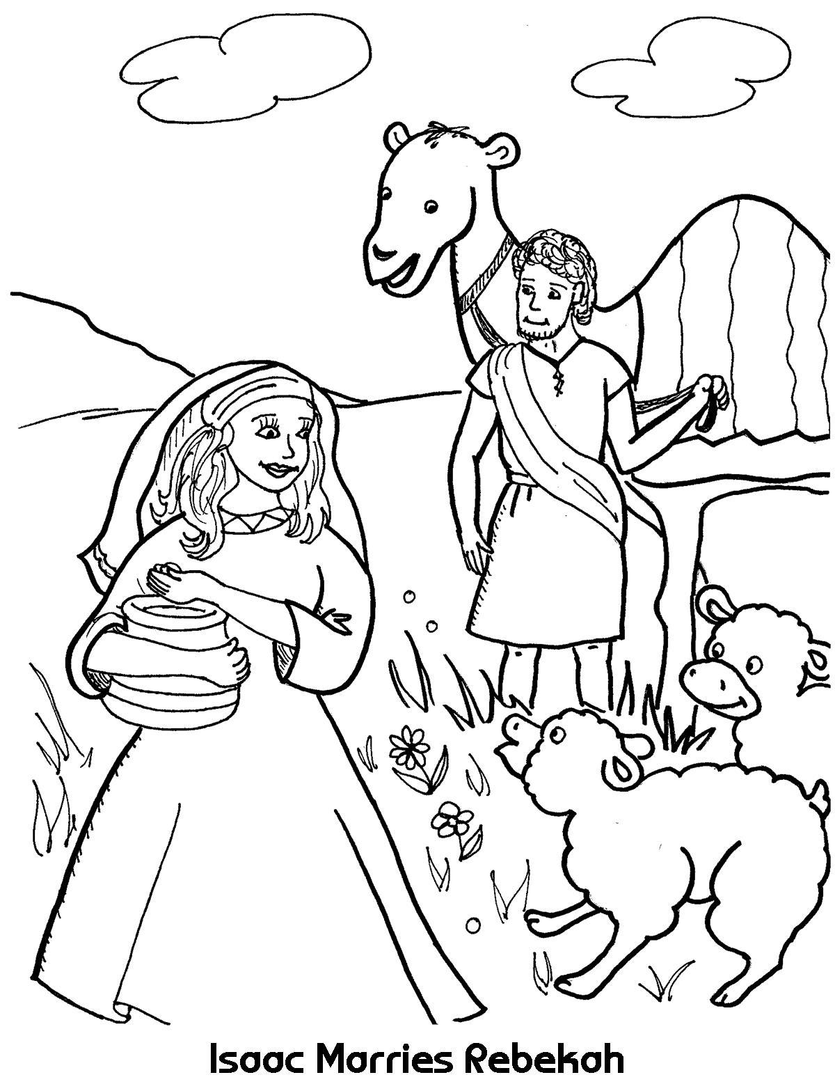 Isaac Marries Rebekah Coloring Page