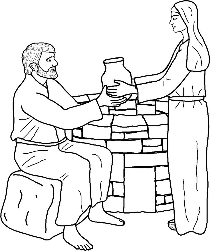Isaac And Rebekah Bible Coloring Pages