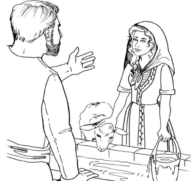 Isaac And Rebekah Printable Coloring Pages