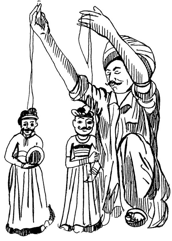 Marionette Puppet Coloring Pages