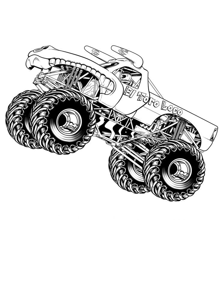 Monster Jam Flying Truck Coloring Pages