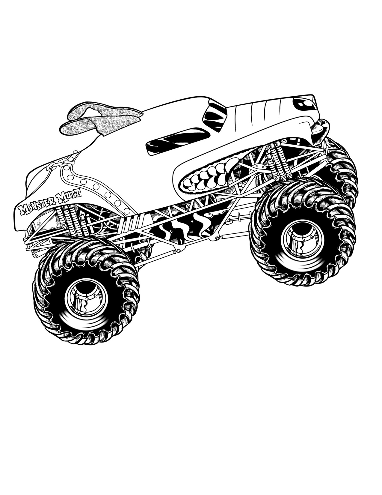 Monster Jam Monster Truck Coloring Pages