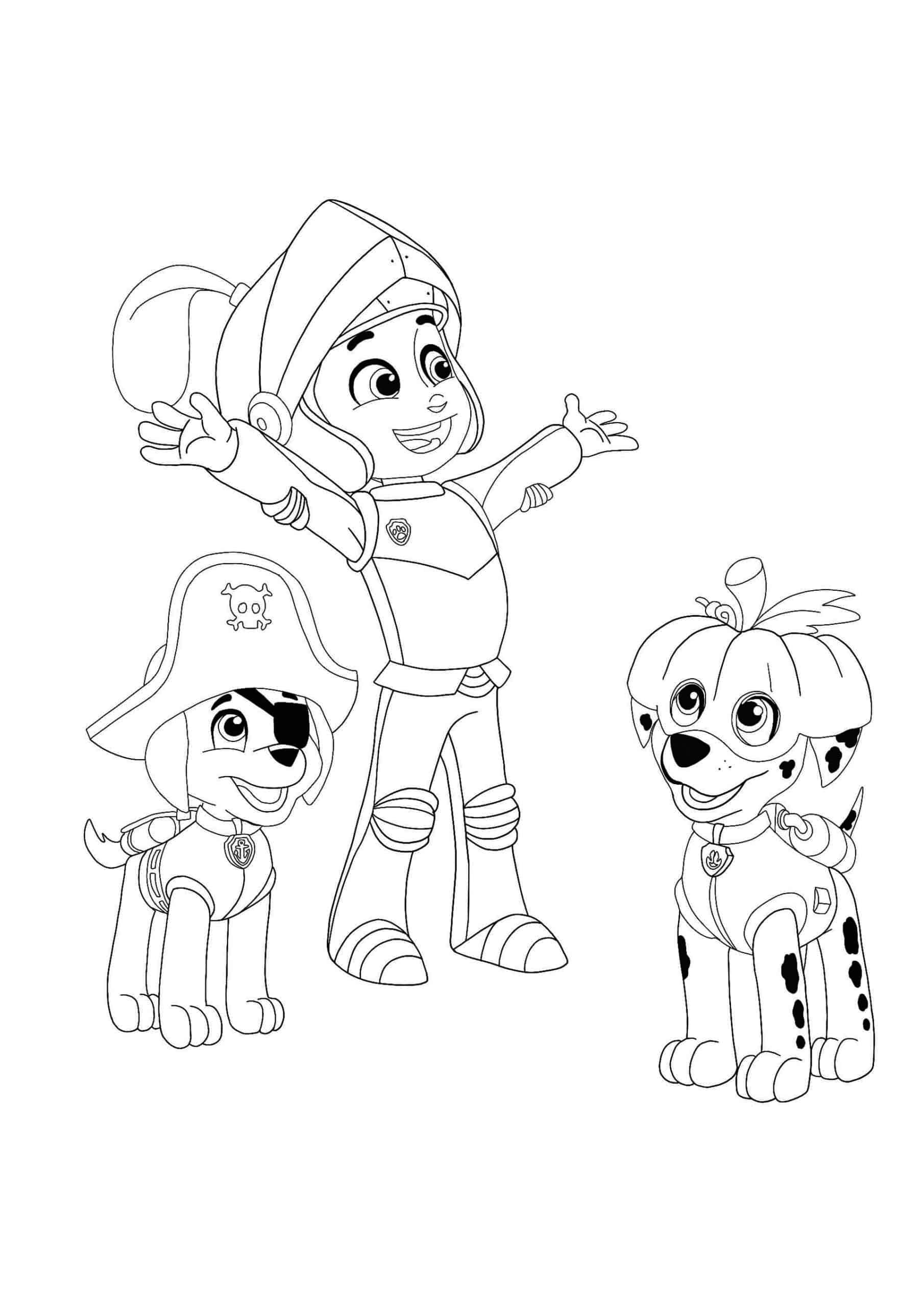 Paw Patrol Halloween Coloring Pages