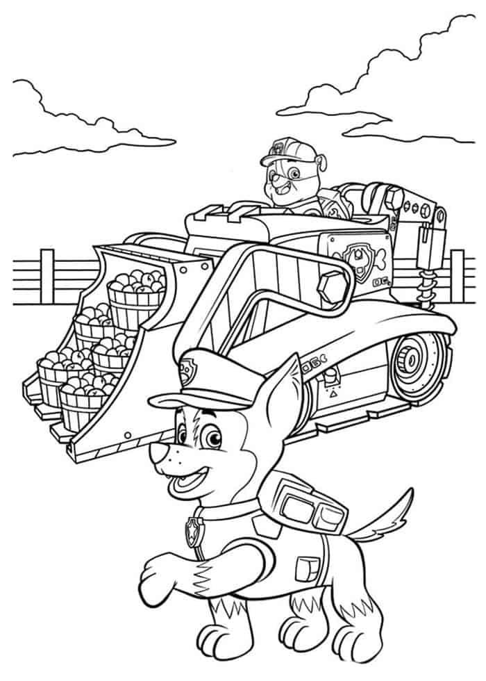 Paw Patrol Halloween Printable Coloring Page