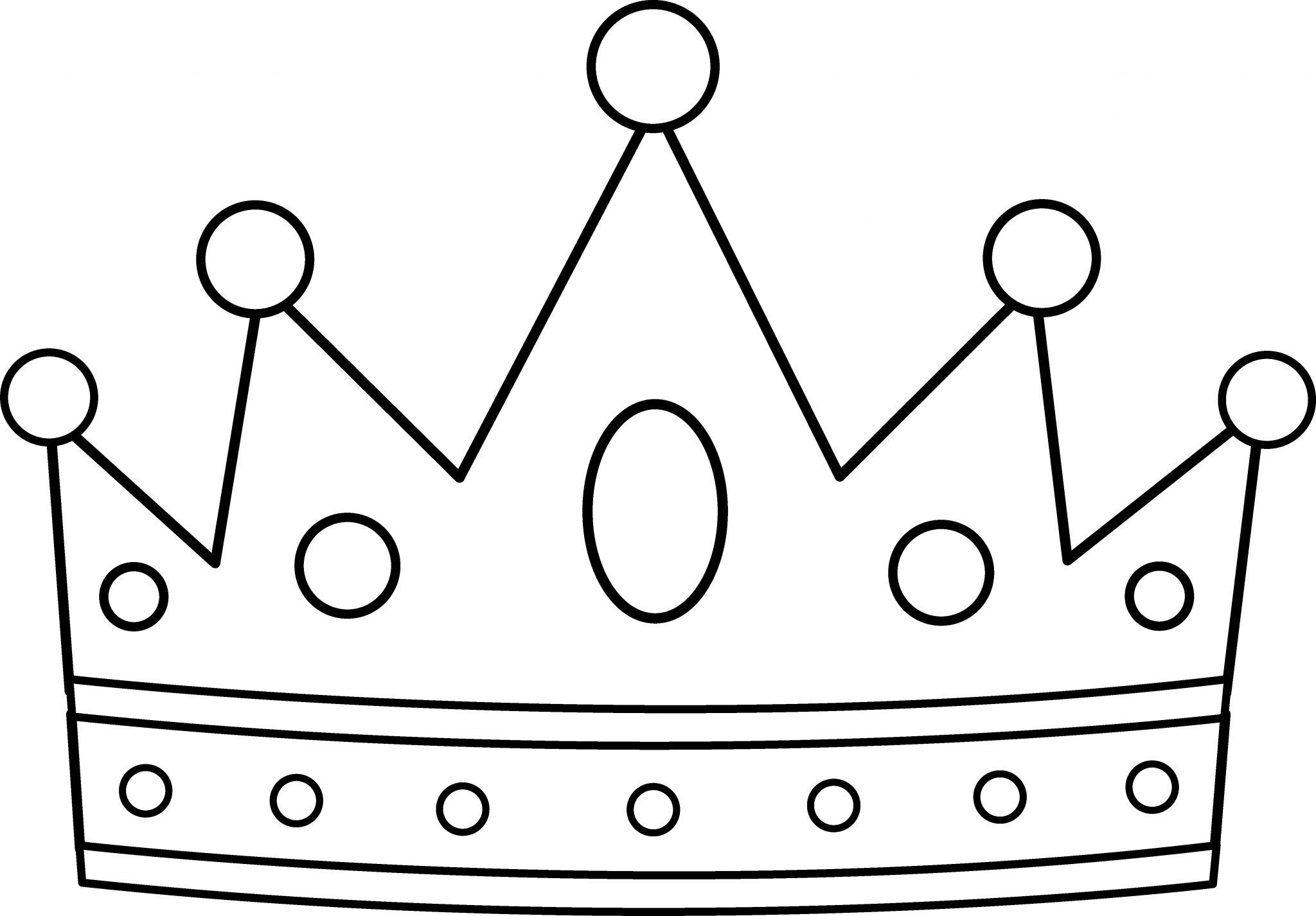 Print And Color Crown