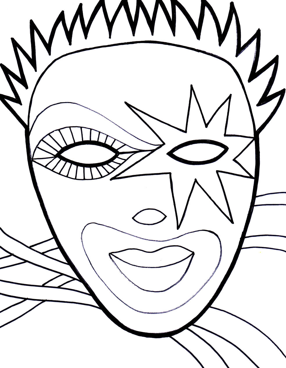 Print And Color Mask