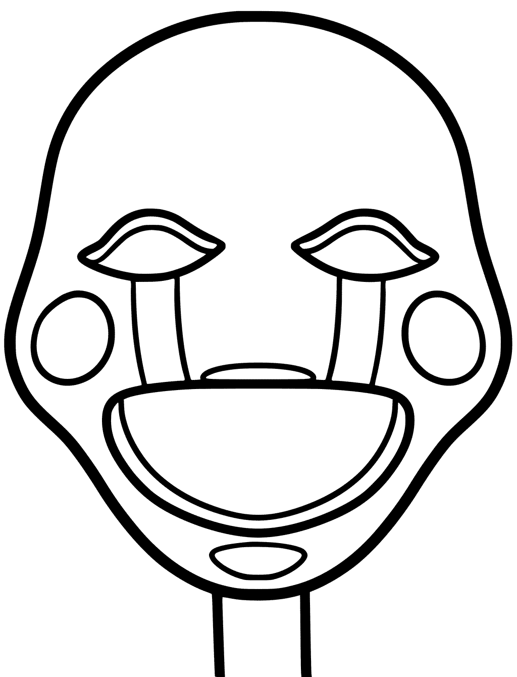 Puppet Mask Coloring Cut Out