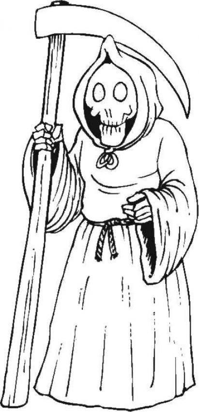 Skeleton Grim Reaper Coloring Pages