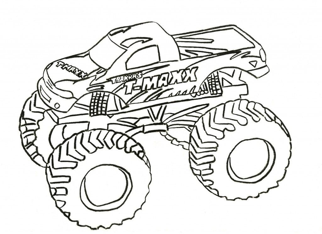 T Maxx Monster Jam Coloring Pages