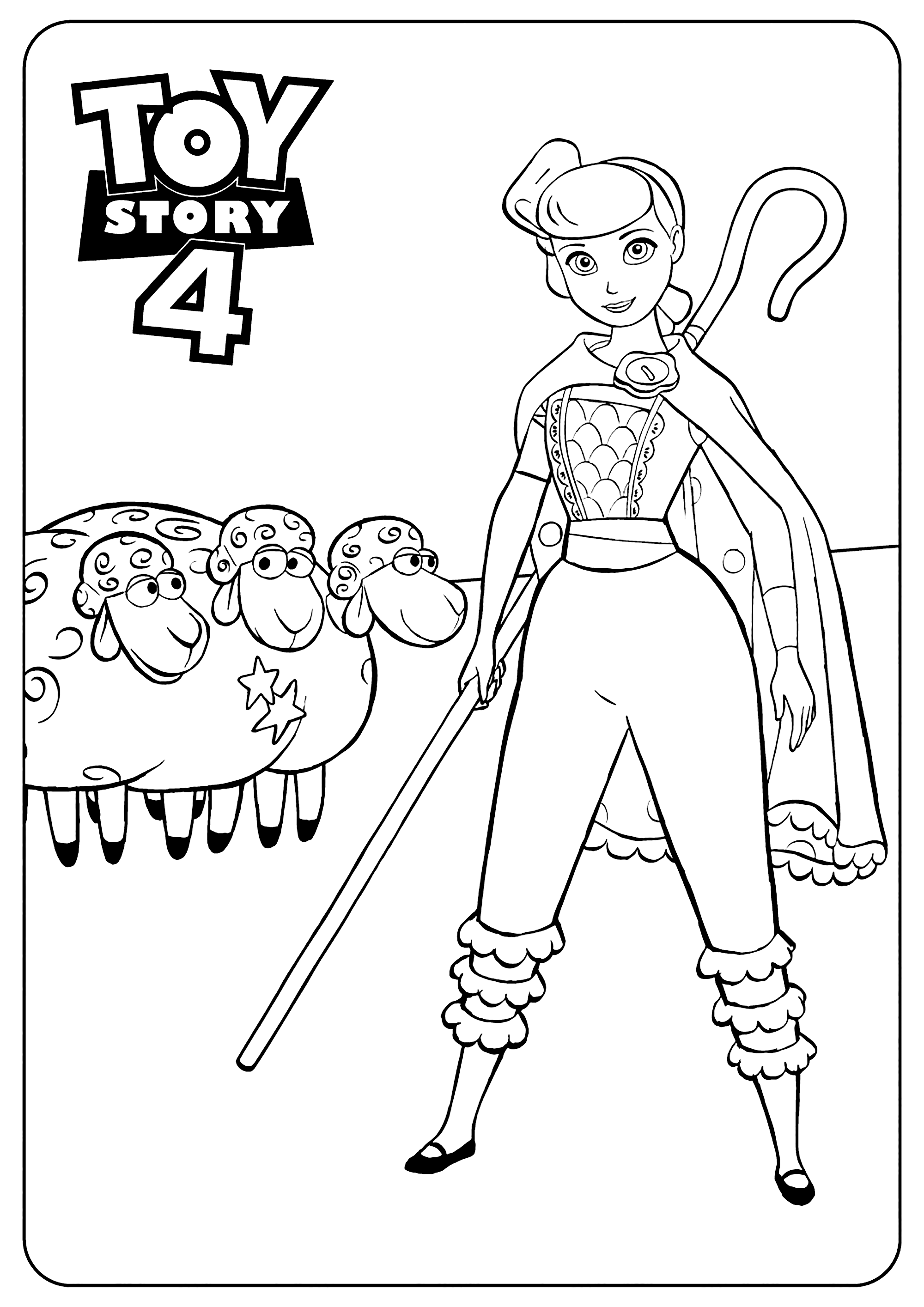 Toy Story Bo Peep Coloring Pages
