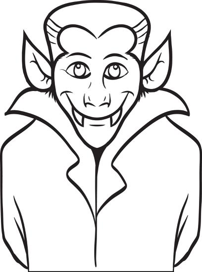 Vampire Dracula Coloring Pages