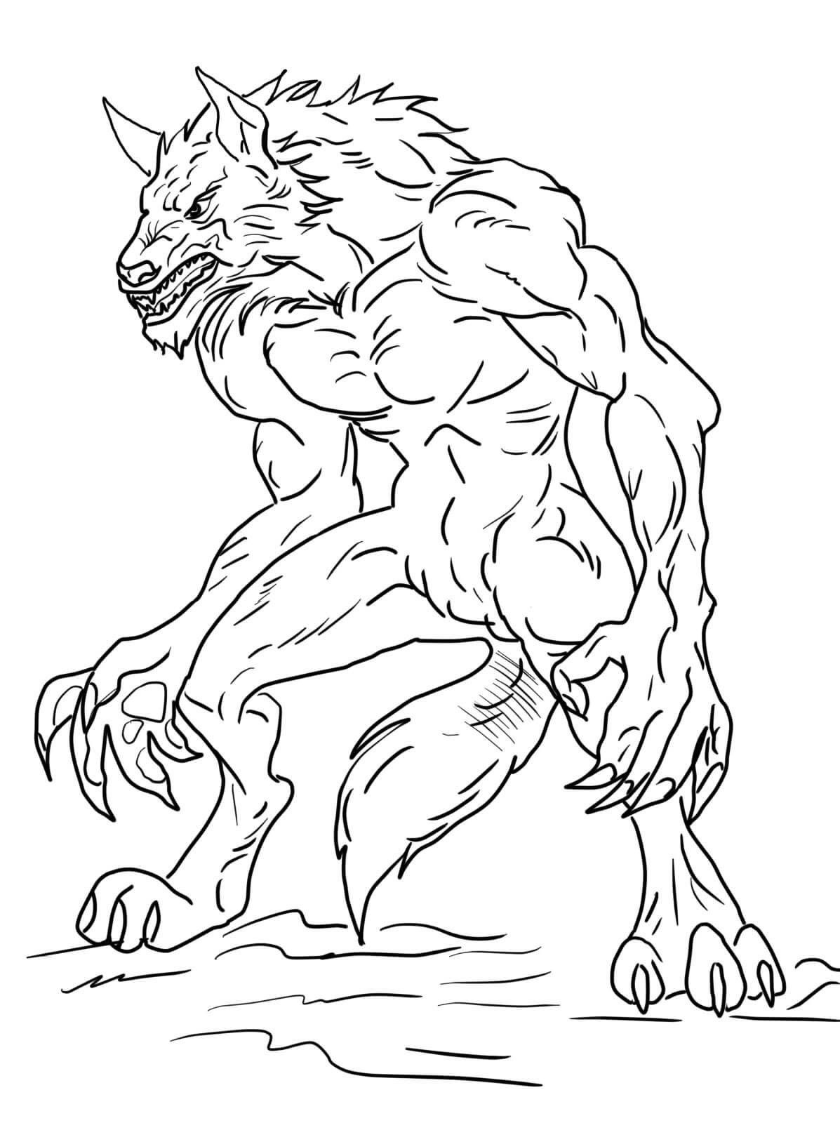 Werewolf Printable Coloring Pages