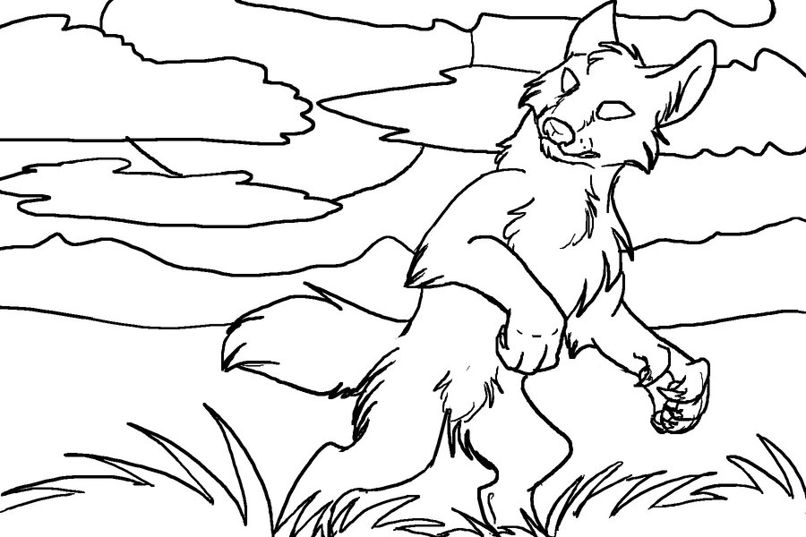 Werewolf Scene Coloring Pages