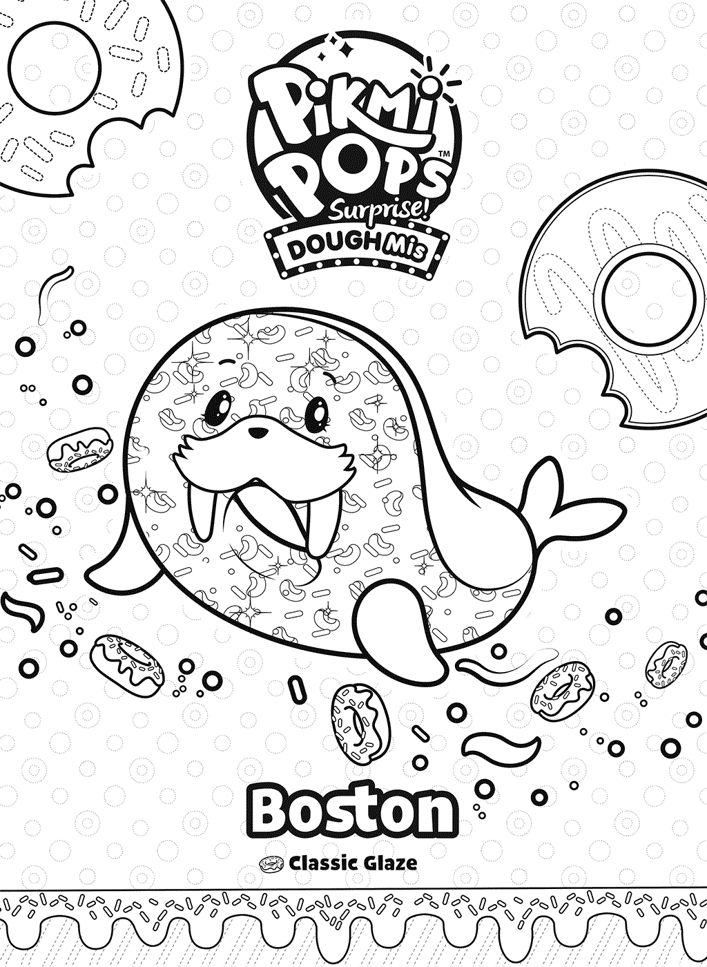 Boston Pikmi Pops Coloring Pages
