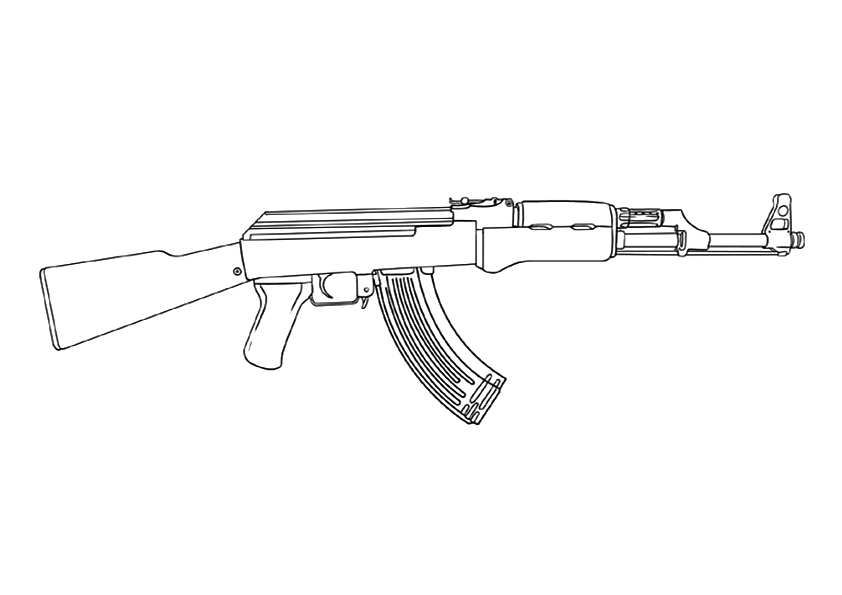 Call Of Duty Automatic Rifle Coloring Page