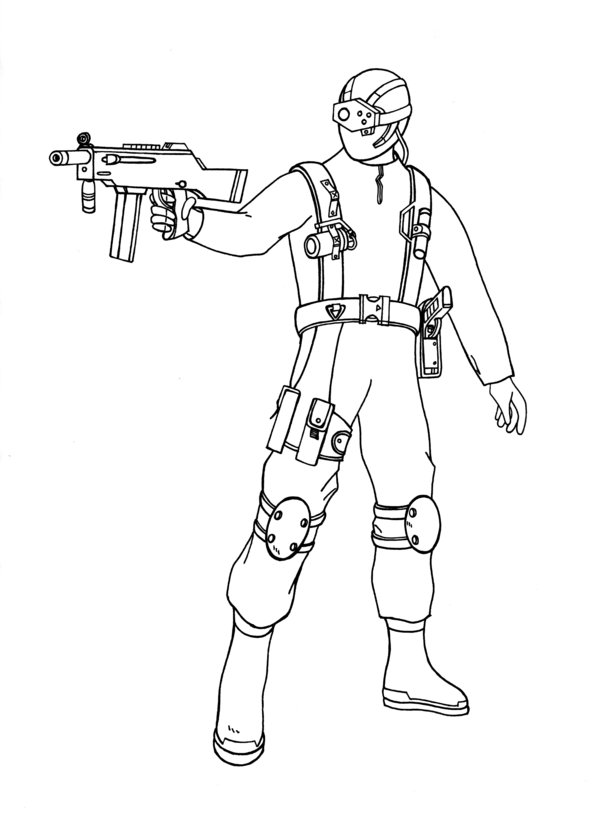 Call Of Duty Coloring Page