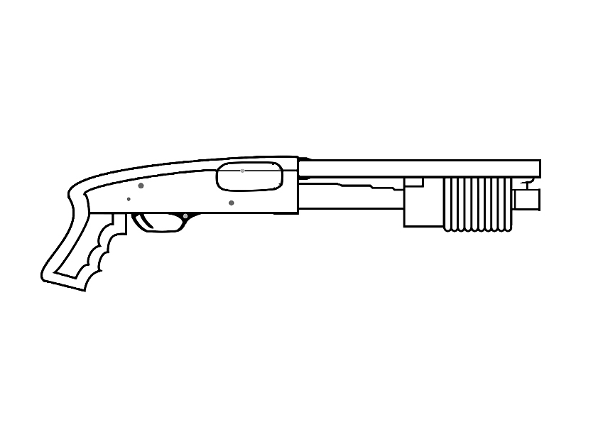 Call Of Duty Gun Coloring Page