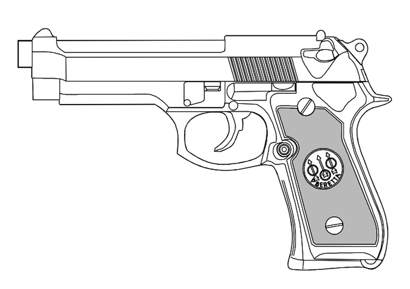 Call Of Duty Handgun Coloring Pages