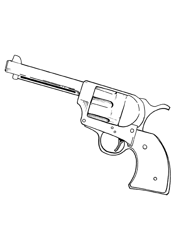 Call Of Duty Pistol Coloring Page