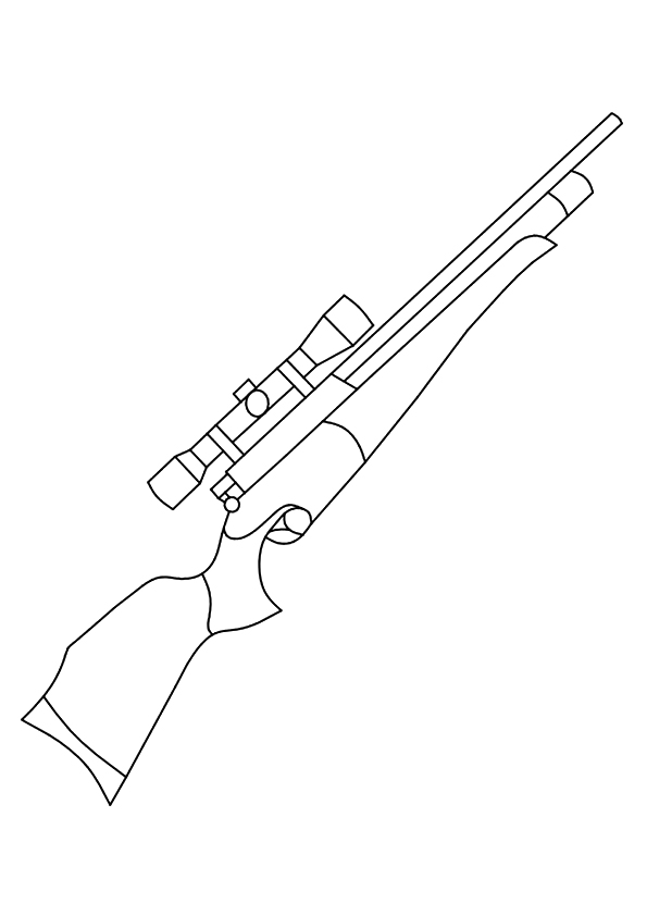 Call Of Duty Rifle Coloring Page