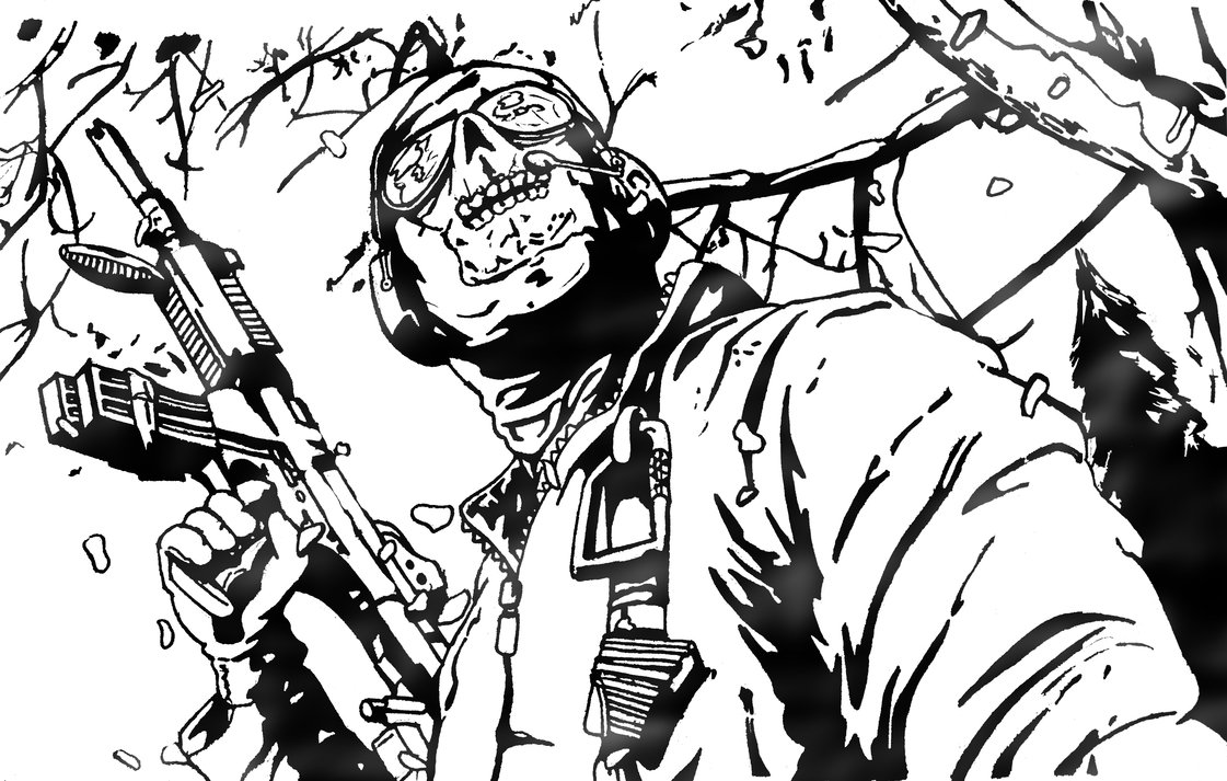 Call Of Duty Scene Coloring Page