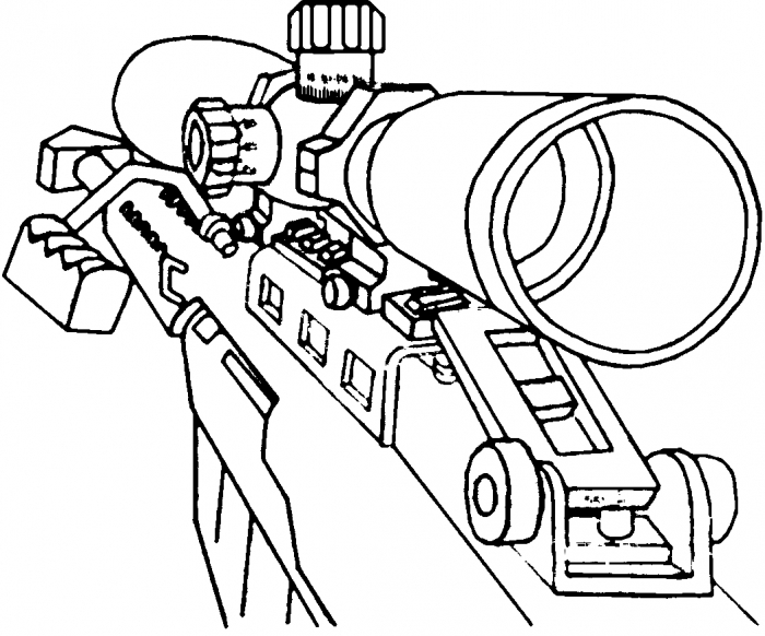 Call Of Duty Weapon Coloring Pages