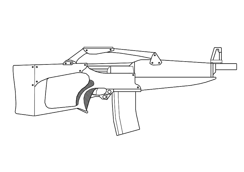 Call Of Duty Weapons Coloring Page