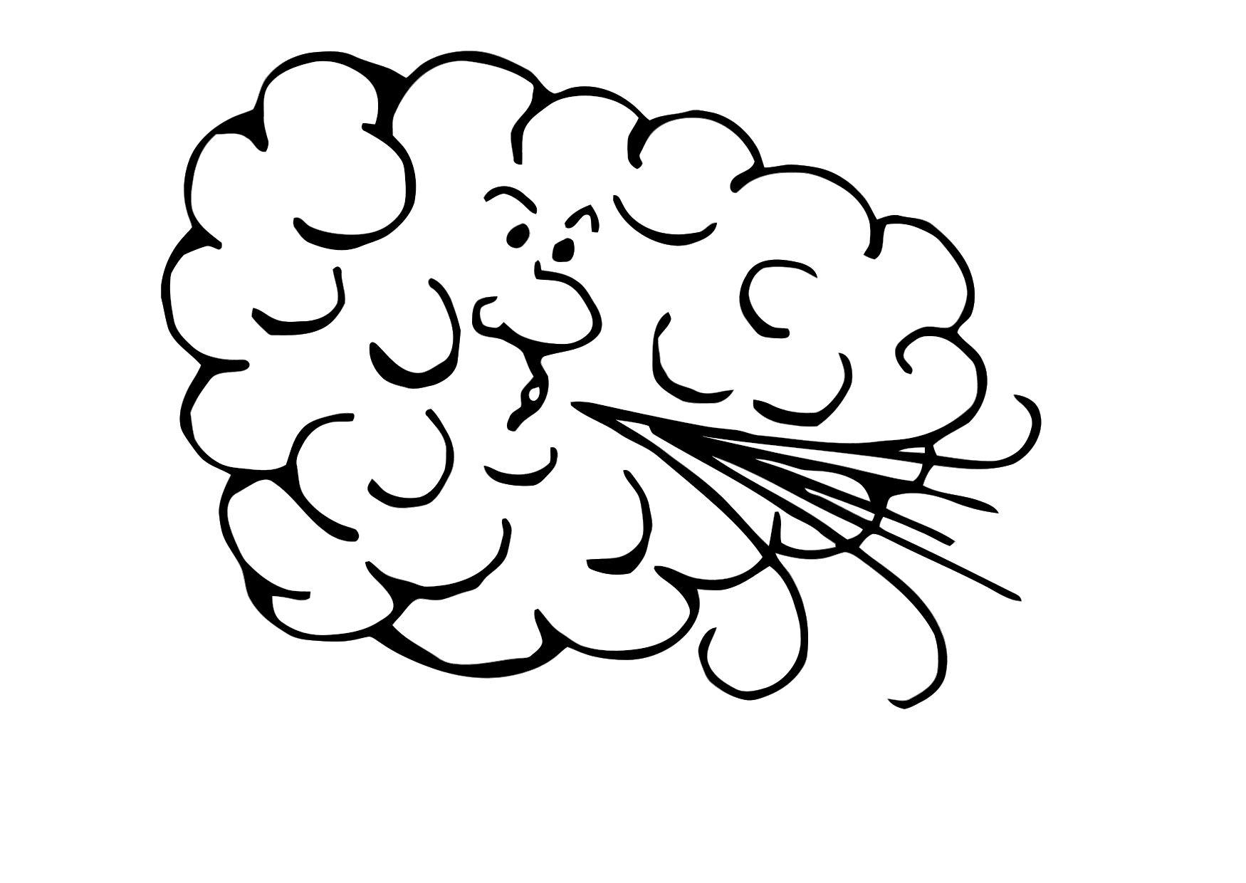 Clouds Wind Coloring Page