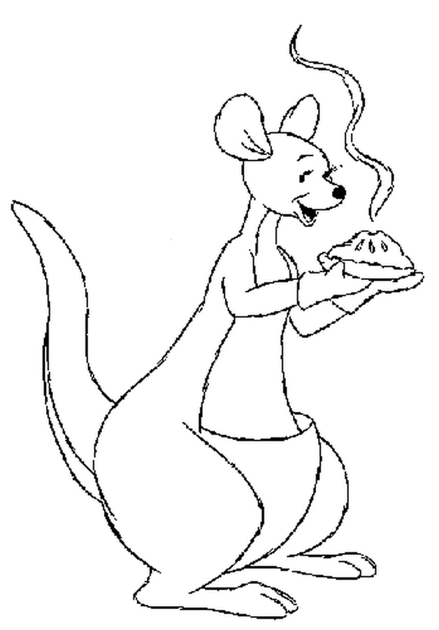 Disney Kanga Thankgiving Coloring Page
