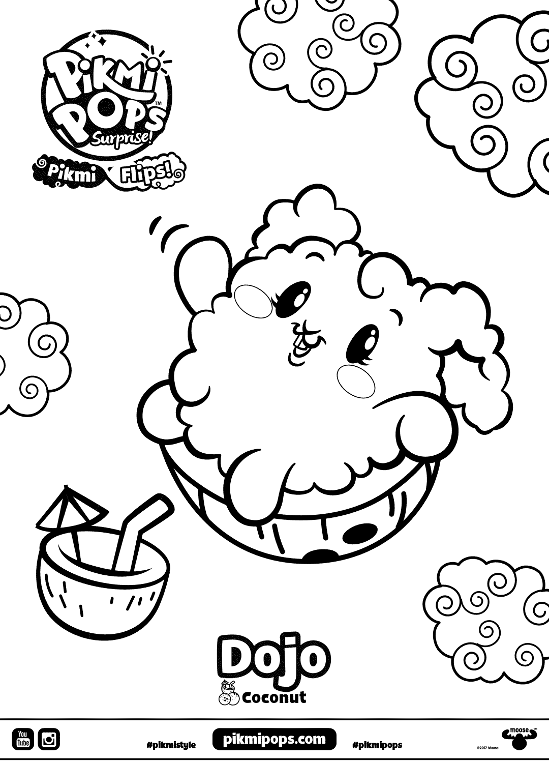 Dojo Pikmi Pops Coloring Pages