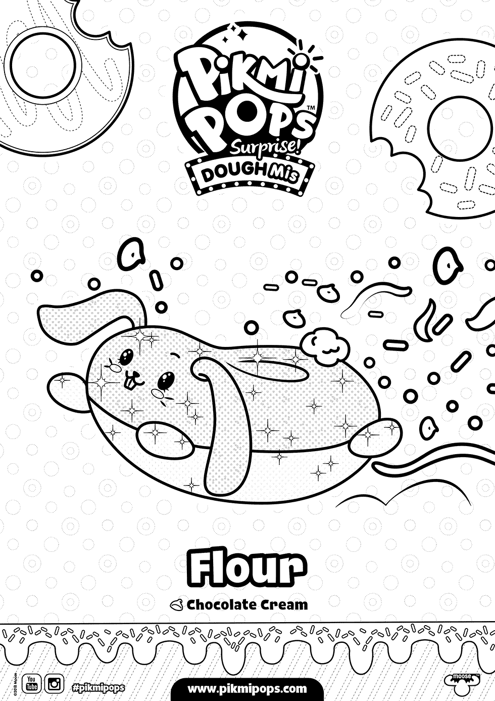 Flour Pikmi Pops Coloring Pages