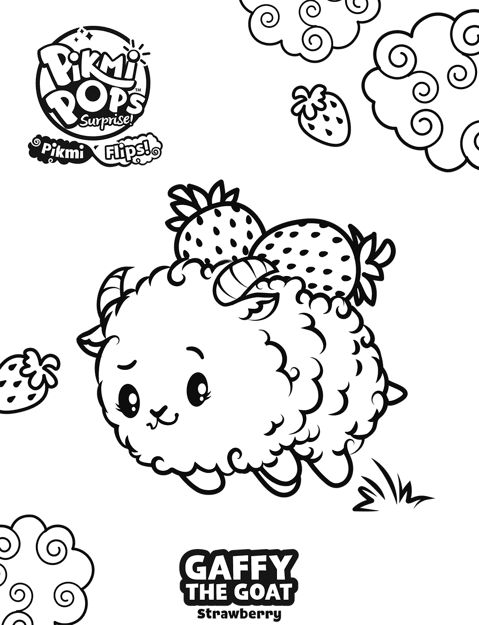 Gaffy Pikmi Pops Coloring Pages
