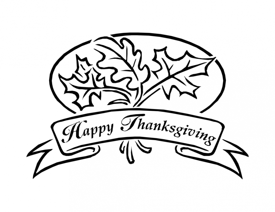 Happy Thanksgiving Leaves Banner