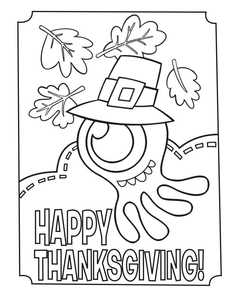 Happy Thanksgiving Monster Coloring Pages