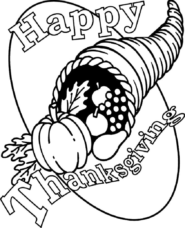 Happy Thanksgiving Sign For Coloring