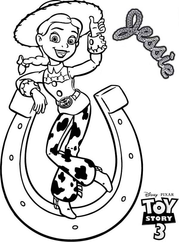 Jessie Toy Story 3 Coloring