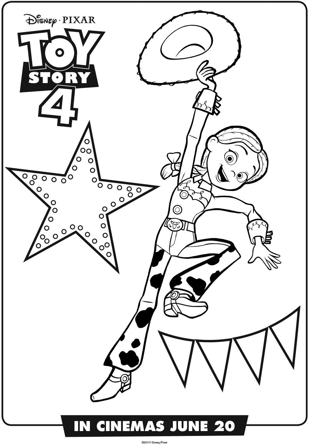 Jessie Toy Story 4 Coloring Page
