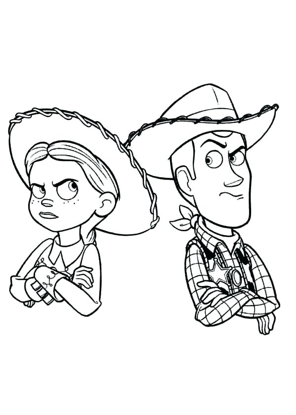 Jessie And Woody Angry Coloring Page