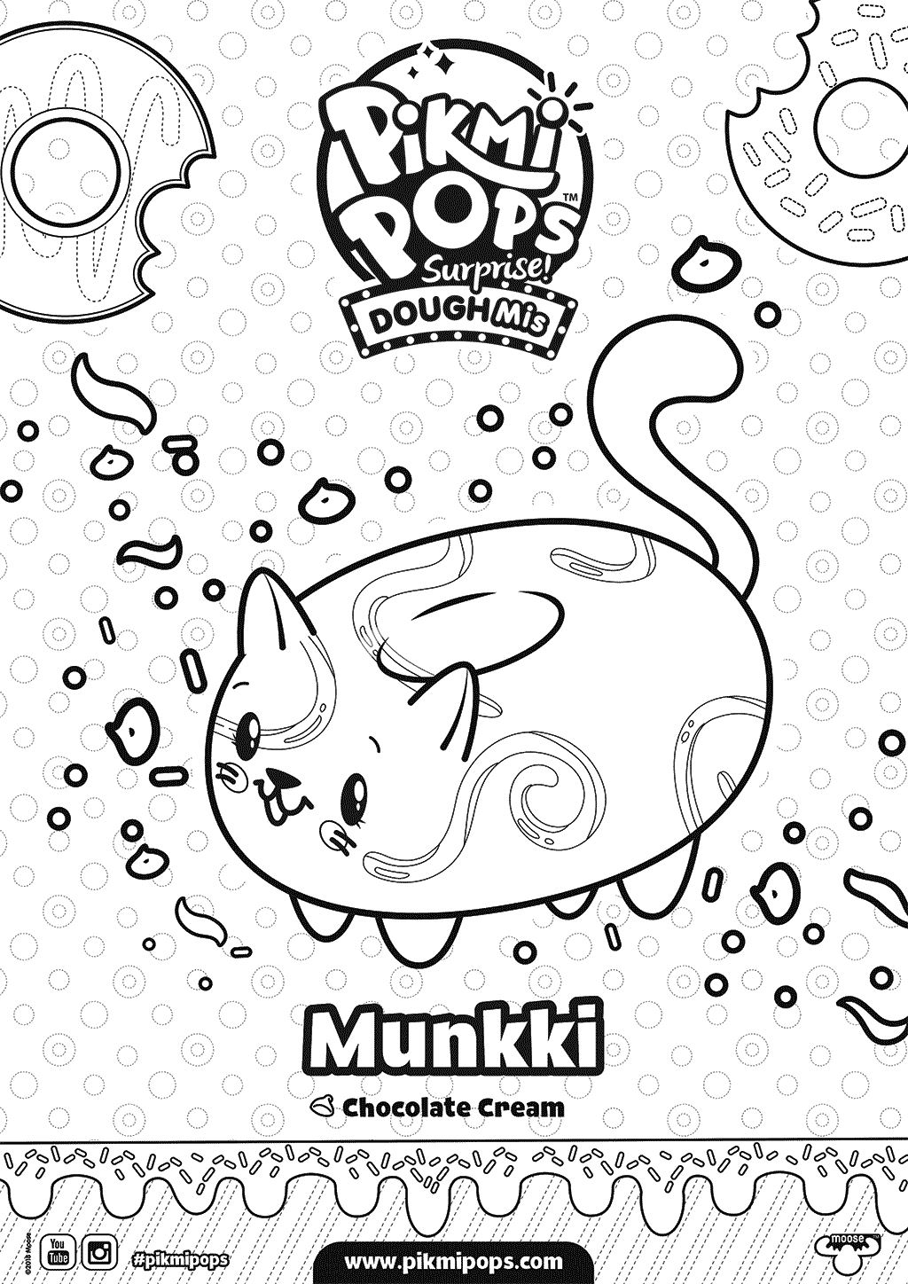 Munkki Pikmi Pops Coloring Pages