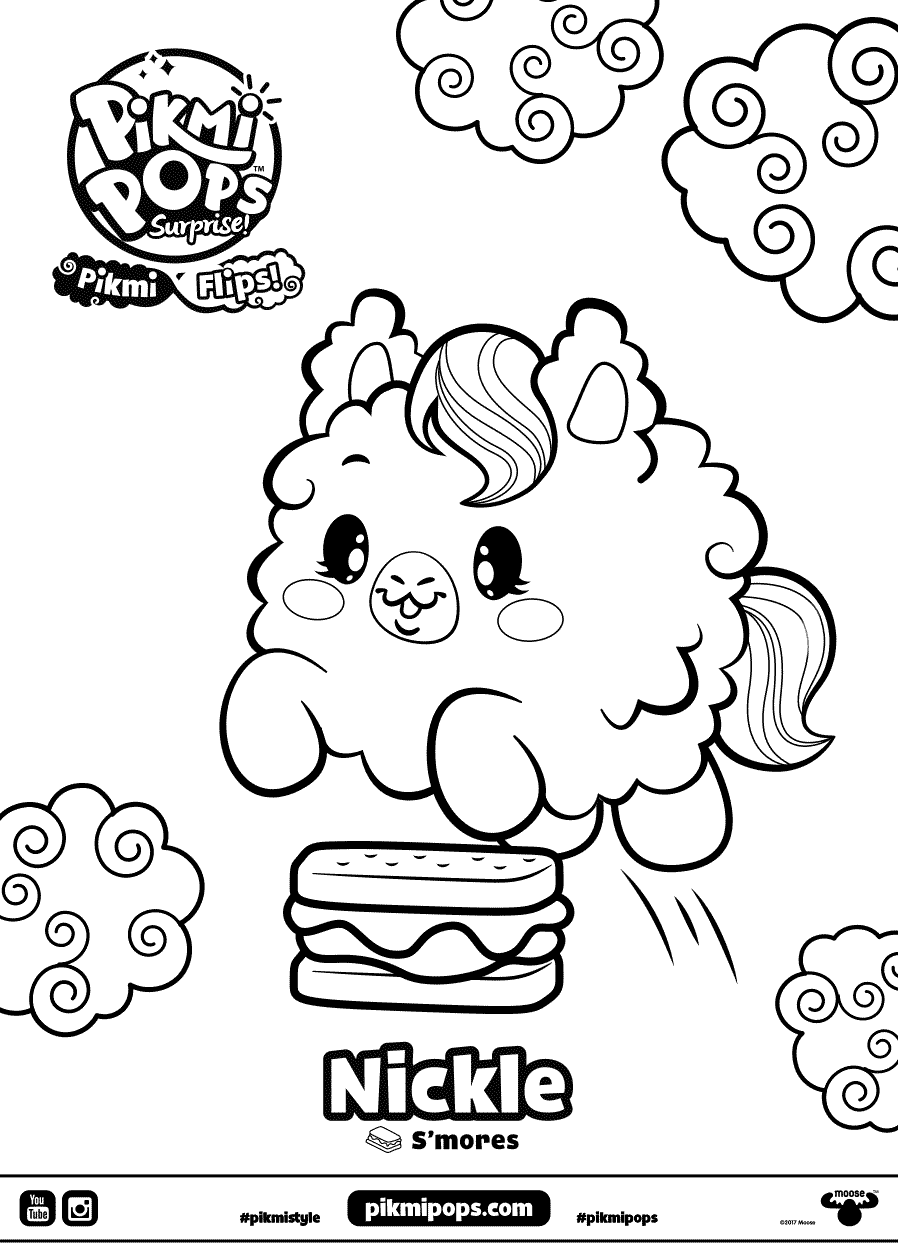 Nickle Pikmi Pops Coloring Pages