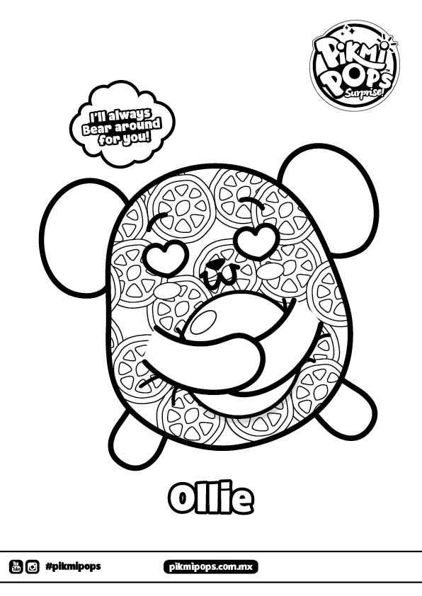 Ollie Pikmi Pops Coloring Pages