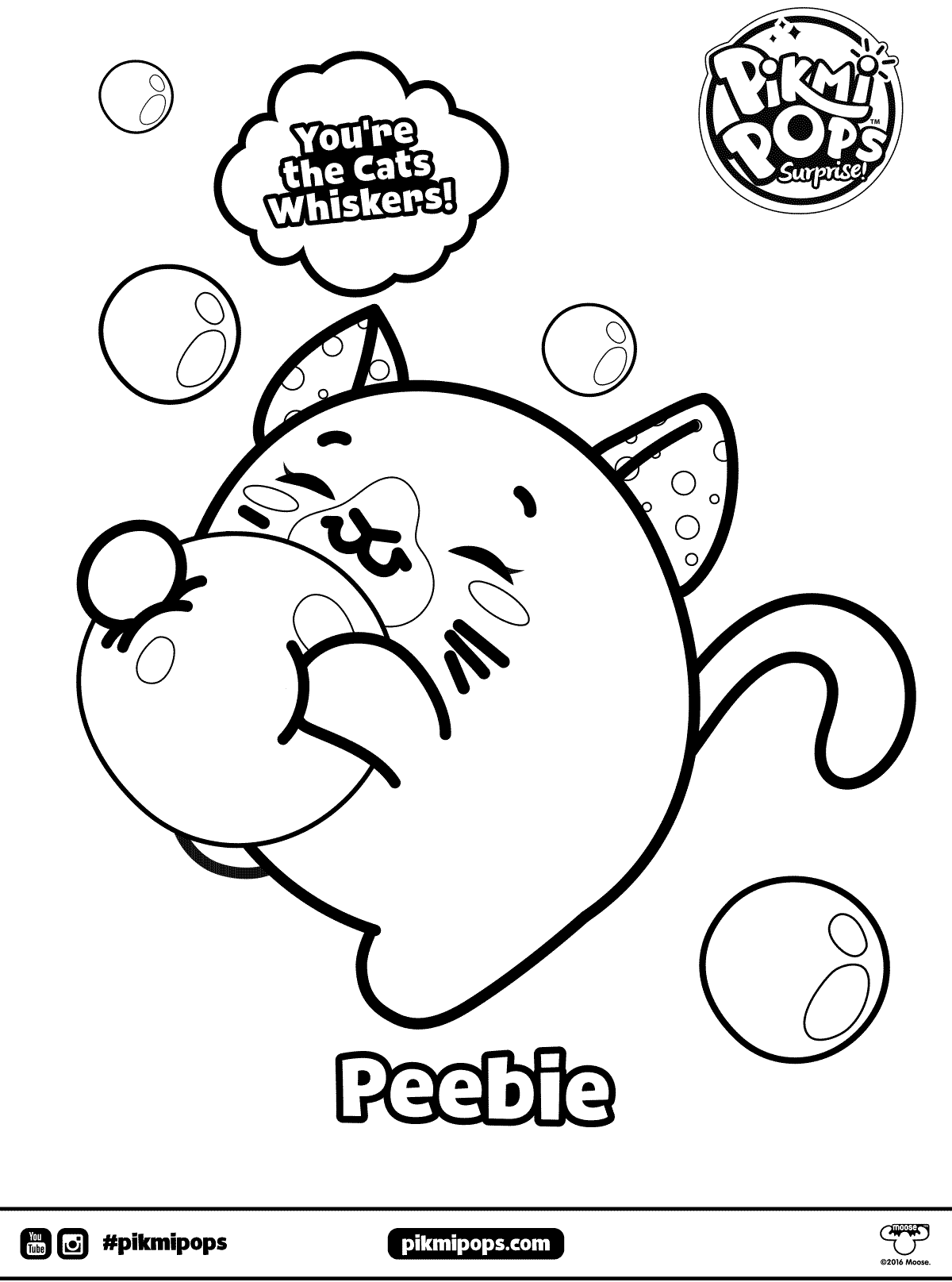 Peebie Pikmi Pops Coloring Pages